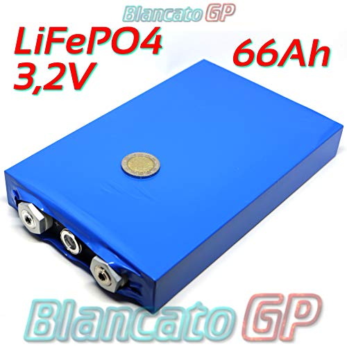 batería célula LiFePo4prismatica 3,2V 66ah UPS Solar Litio Bicicleta eléctrica