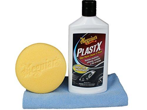Meguiar`s PlastX-Plastikpolitur Set mit Meguiars Applicator & DFT Microfasertuch