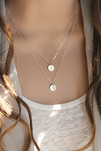 """Sterling Silver 1.2/"""" pouces monogramme Collier-Initial Nom Pendentif-onecklace ®"""