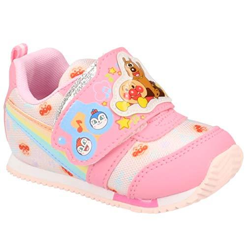 [ムーンスター] アンパンマン ベビー・キッズ スニーカー APM B30 2E マジックテープ ベルクロ ドキンちゃん バイキンマン かわいい 幼児 子供 男の子 女の子 靴 ピンク 13.5cm