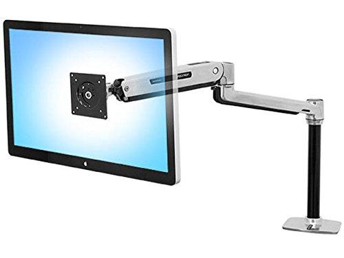 Ergotron 45-360-026 LX Sit Stand Desk Mount Arm para la Pantalla LCD, Aluminio Pulido