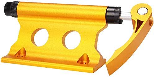 vrsupin0 Fahrrad Fahrradträger Außen Gabel Vorne Fahrrad Zubehör Universal Schnell Freigabe Tragbar Aluminiumlegierung Feste Fahrrad Halterung von Oberteil Stabil Wasserfest (Gelb) - Gelb