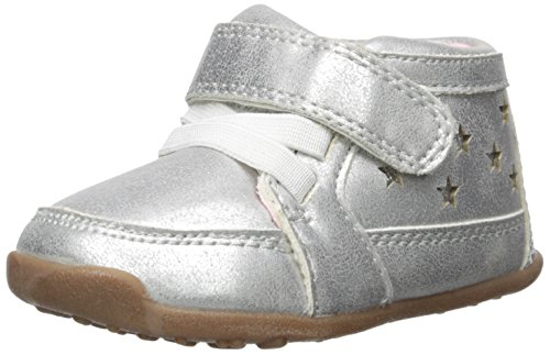 Carter's Every Step Girls' Stage 3 Walk, Cora-WG Sneaker, Silver, 4.5 M US (12-18 Months)