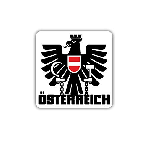 Aufkleber/Sticker Österreich Adler B&esadler Fahne Armee Flagge 7x7cm A1730