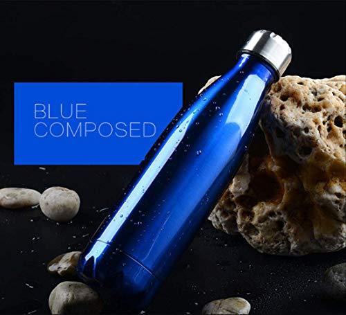 FHFF Thermosbecher doppelwandig isoliert Isolierflasche Edelstahl Wasserflasche Cola Chilly Bottle 750 ml blau