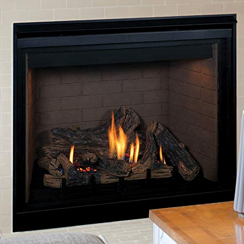 Superior Direct Vent Gas Fireplace, Natural Gas, Electronic Ignition, Charred Oak Logs, Top/Rear Vent - 24,000 Btu's (35)