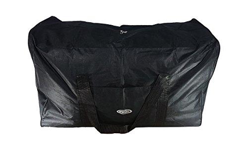 P.I.Sport N.Y. Bolsa de Deporte Grande XXL de 200 litros. Maleta Ideal para Deporte, Viaje, Camping y almacenaje. Lona Muy Resistente e Impermeable (Negro)