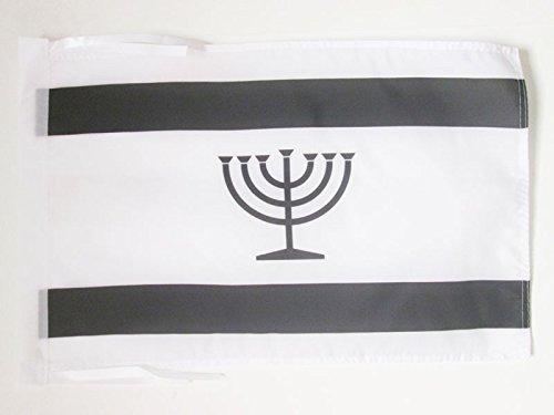 AZ FLAG Flagge JIDDISCH 45x30cm mit Kordel - JÜDISCH-DEUTSCH Fahne 30 x 45 cm - flaggen Top Qualität