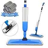 Bellababy Upgraded Spray Mop for Floor Window Cleaning, with 4 Microfiber Pads