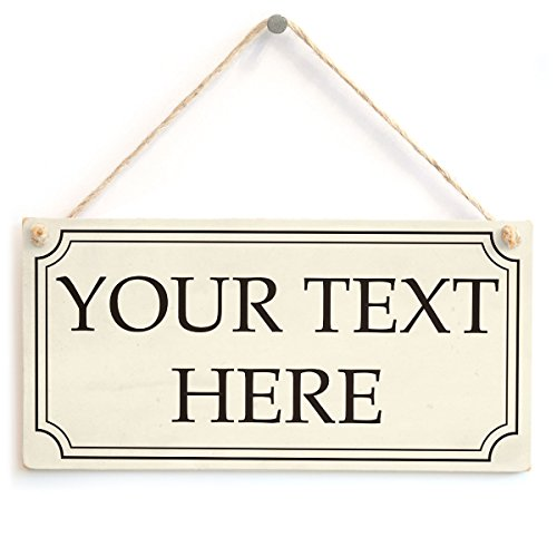Personalised Posh Your Text Here Sign - Custom Wooden Plaque