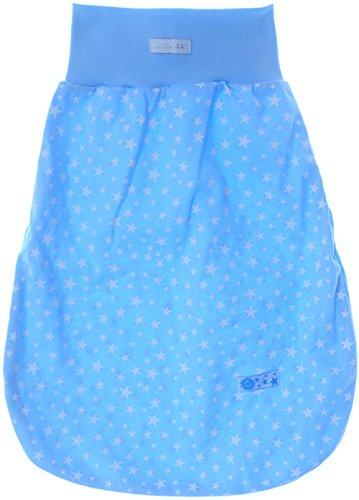 Baby rugzak slaapzak babyslaapzak zonder mouwen blauw met sterren 6/24M. (53cm.)