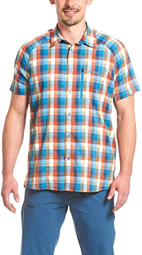 Maier Sports Halos Chemise Manches Courtes Homme, Blue/Orange/reflecti Modèle 46 2017 T-Shirt Manches Courtes