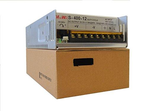MegaWatt S-400-12x 36 Amps 430 Watts 9.5 to 15 Volts Adjustable Ham CB Radio Power Supply 13.8V 12V Not a Clone - Real MegaWatt MW