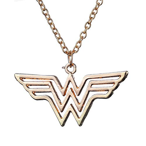 MZYSM Moda Jewely Gold Charm Super Hero Wonder Woman Colgante Collar Hombres Mujeres Regalo