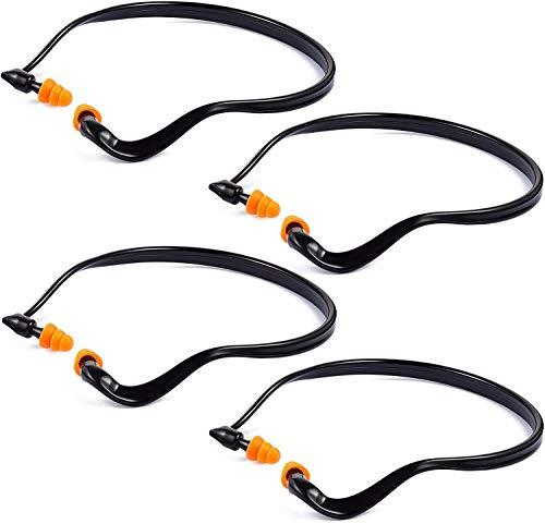 Earplugs, Sleeping Ear Plugs Shooting Ear Plugs Band Earplugs Hearing Bands Banded Lightweight Silicone Earplugs for Construction Work/Concerts/Motor Sports Racing (Black)