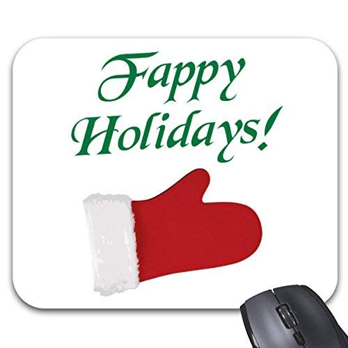 N\A Tappetino per Mouse Fappy Holidays Christmas Glove Print Mouse Mat Accessori per Computer