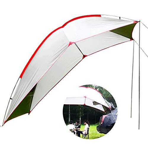 LOY Wohnmobilanhänger Zelt - Canopy Sun Protection Sonnenschutz mit Tragetasche, Wasserdichtes Camper Dachzelt für Strand/SUV/MPV/Schrägheck