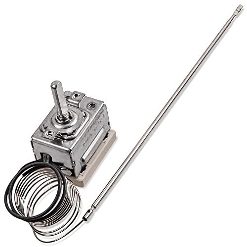 Thermostat Temperaturregler Regler Ersatz für Amica 8032828 EGO 55.17069.140 Temperaturwähler Backofenthermostat 299°C für Backofen Ofen Herd Ersatzteile