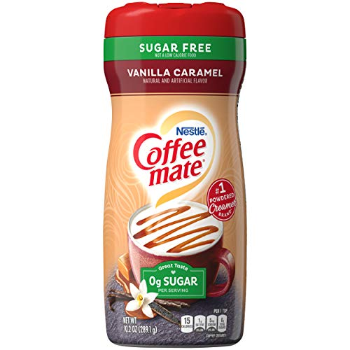 Coffee-Mate Coffee Creamer Sugar Free Vanilla Caramel, Pack of 6 (10.2 Ounce)