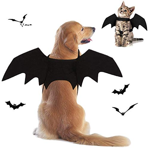 Tealots Halloween Dog Costume Pet Bat Wings for Adjustable Funny Cat Bat Wings Party Outfit Cosplay...