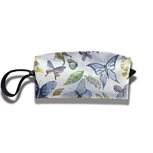 Bbhappiness Pouch Handbag Cosmetics Bag Case Purse Travel & Home Portable Make-up Receive Bag Butterfly Meadow
