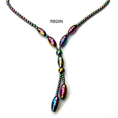 Rainbow Hematite Necklace With Magnetic Clasp