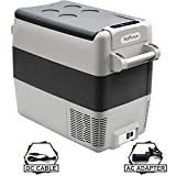 Setpower AJ50 53 Quarts Portable Freezer Fridge 12V Cooler, 0℉-50℉, DC 12/24V, AC 110-240V, Car Fridge Compact Refrigerator, for Truck, Van, RV Road Trip, Outdoor, Camping, Picnic, BBQ, Patio