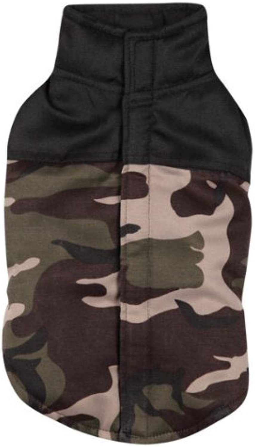 Casual Canine Polyester Camo Dog Vest, XXSmall, 8Inch, Green