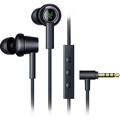 Razer Hammerhead Duo - In-Ear Headset mit Dual-Treiber-Technologie (Earbuds Ohrhörer, Ohreinsätze in verschiedenen Größen, In-Line Fernbedienung, 3,5mm-Klinkenstecker, Mikrofon) Schwarz