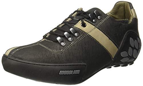 Woodland Men's Black Leather Sneaker-9 UK (43 EU) (GC 1120111CMA)