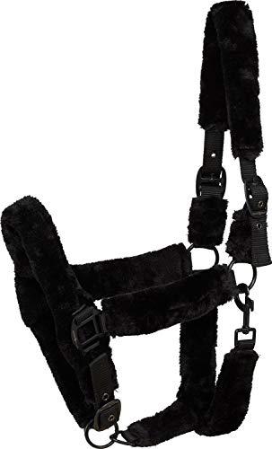 Horse Guard Halfter mit schwarzem Kunstfell für Pferde - Vollblut