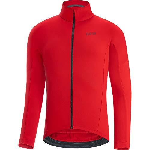GORE WEAR Maillot térmico de ciclismo para hombre, C3, L, Rojo