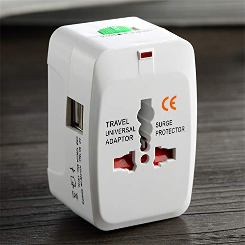 ILS - All in One Universal International-Stekker-Adapter 2 USB-poorten World Travel Charger AC-adapter met AU US Groot-Brittannië EU-converter-stekker