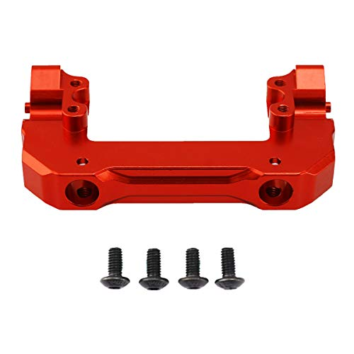 RZXYL Front Servo Mount Bracket, CNC Aluminium Alloy Bumper Mount Stand for Axial SCX10 III 1/10 RC Crawler Car (Red)