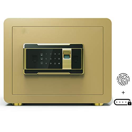 ONEBUYONE MöbeltreSchlüsseltresor mit numerischem Code außen, biometrischer Tastaturtresor mit großer Speicherkapazität Unsichtbare Tresore,Gold,35cm