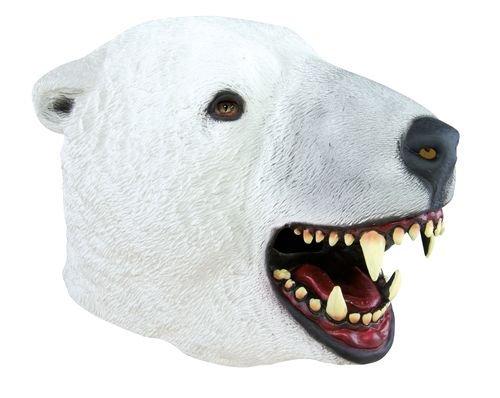 Ptit Clown P 'tit payaso–12049–Disfraz de máscara adulto látex completo–oso polar, talla única