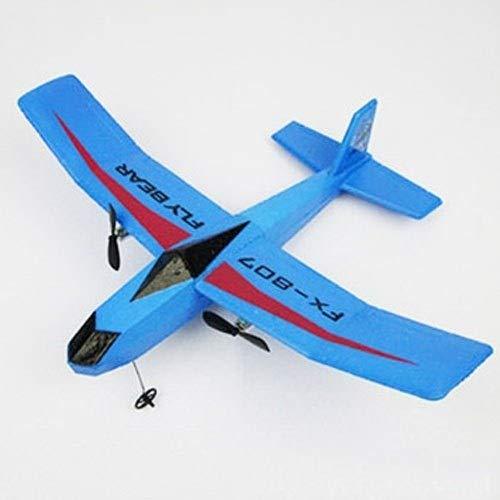 MUMUMI 2 Canales Principiante Exterior/Interior Remoto Planeador de Control, eléctrico ala Fija 2.4G PPE de Carga USB Aviones de RC, Control Remoto Avión Regalo del Cabrito de Navidad (Color :