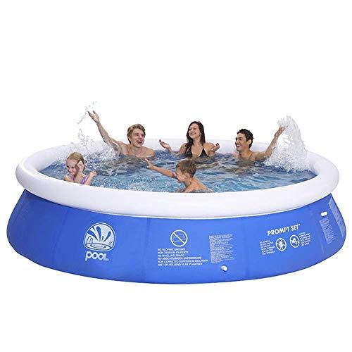 Piscina inflable, Piscina inflablePiscina redonda, piscina inflable de PVC extra grande, piscina de salón inflable para uso doméstico piscina para niños, jardín sobre el suelo piscina azul 180x73cm
