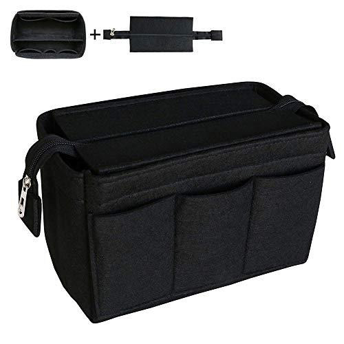 Yoillione Taschenorganizer Filz Organizer,Innentasche für Handtaschen Organizer Taschen Organisator,Handtaschenorganizer Groß,Schwarz