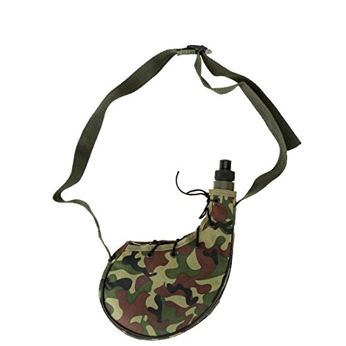 Queenbox Fashion Outdoor Portable Camouflage Water Canteen Sports Camping Climbing Hiking Camouflage Water Bottle 800ml