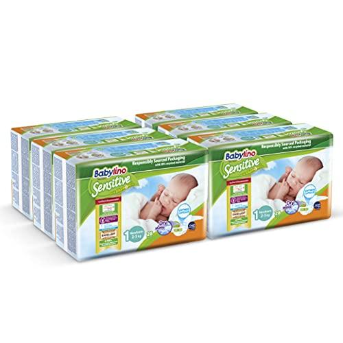 Babylino Sensitive Newborn, 168 Pannolini Taglia 1 (2-5Kg)