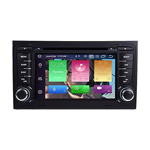 "JFFFFWI Für Audi A4 S4 RS4 Sitz Exeo Android 10.0 Octa Core 4 GB RAM 64 GB ROM 7""Auto DVD-Player Radio Stereo-GPS-System Unterstützung Auto Auto Play/TPMS/OBD / 4G WiFi / DAB1"