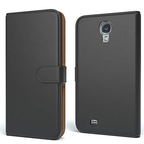 EAZY CASE Tasche kompatibel mit Samsung Galaxy S4 / S4 Neo Schutzhülle mit Standfunktion Klapphülle Bookstyle, Handytasche Handyhülle mit Magnetverschluss & Kartenfach, Kunstleder, Schwarz