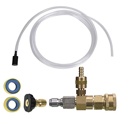 M MINGLE Adjustable Chemical Injector Kit for Pressure Washer, Soap Injector, 3/8 Inch