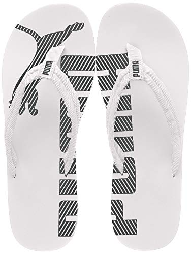 PUMA Unisex Adulto Epic Flip v2 Chanclas, White Black, 44.5 EU