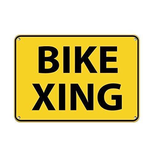 mengliangpu8190 fiets Xing verkeersbord aluminium metalen bord 12