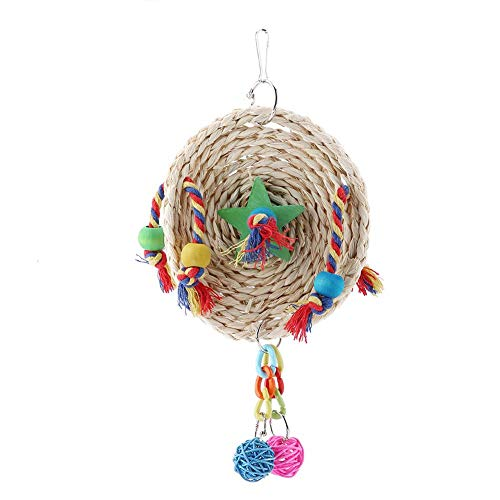 Huakii Juguete Firme para jaulas para pájaros, Juguete para Masticar pájaros, para Cockatiels, Juguetes para Mascotas(Small)