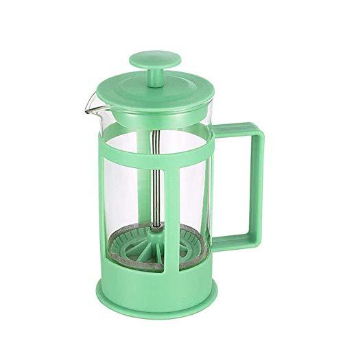 Layla Beauty Store Filtern Sie Kaffeekanne 304 Materialfilter-Gerät Glaspresse Topf Kaffee Artefakt Große Kapazität Manuelle Stempel Kaffeekanne, Um Zu Verhindern, Scald,Grün