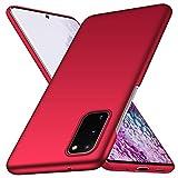 Arkour Cover Samsung Galaxy S20, Minimalista Ultra Sottile Case Eccellente Grip Rigida Custodia per Galaxy S20 (Rosso)