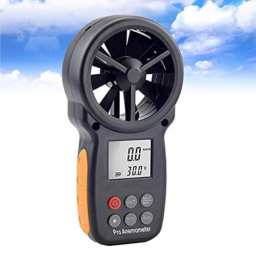 enweQVQ Anemometro Digitale, Anemometro Portatile, Bluetooth Anemometro Palmare App con LCD Retroilluminazione, per Temperatura del Vento, Temperatura, Vento, Chill Tester